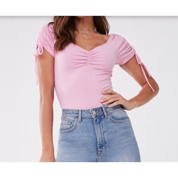 Forever 21 Tops - Forever21 Ribbed Ruched Top